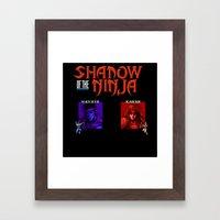 Shadow Of The Ninja- Blu… Framed Art Print