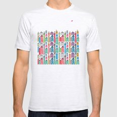Houses and Birds Mens Fitted Tee Ash Grey SMALL