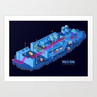 Zaxxon Art Print