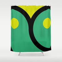face 4 Shower Curtain