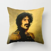 Frank Zappa - replaceface Throw Pillow
