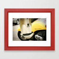 Bright Yellow Metropolitan Moped Framed Art Print
