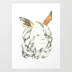 Gazelle Girl Art Print