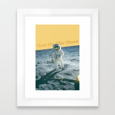 Man On The Moon Framed Art Print
