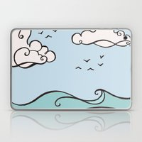 Clouds and Waves Laptop & iPad Skin