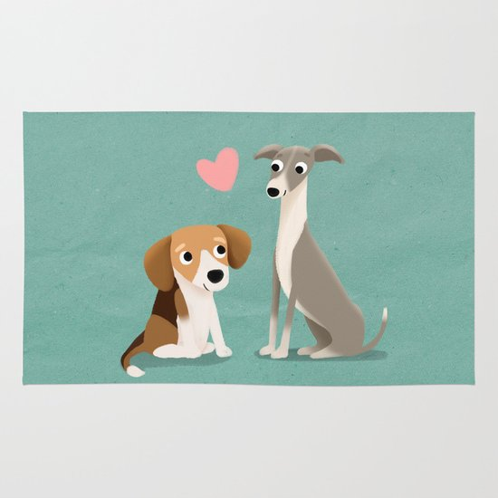 The Unlikely Pair - Cute Dog Series Area & Throw Rug