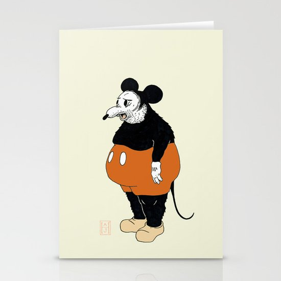 Mickey Da Rat Stationery Card