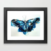 Mighty Morpho Butterfly Framed Art Print