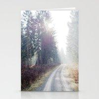 shining wood. Stationery Cards