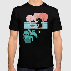 Drink a cup of coffee SMALL Black Mens Fitted Tee