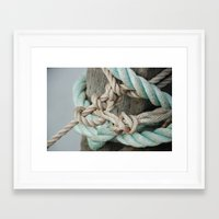 TIED TO THE MOORING #1 Framed Art Print