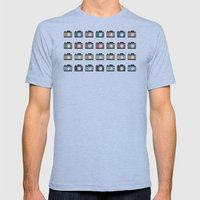 Colourful Camera Icons Mens Fitted Tee Athletic Blue SMALL
