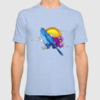 Pigeon Mens Fitted Tee Tri-Blue SMALL