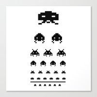 Gamers Eye Test Canvas Print