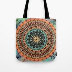 Sunset Desert Mandala Tote Bag