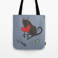Black Dog Love Tote Bag