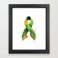 Nature Ribbon Framed Art Print