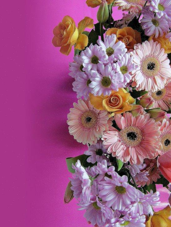 pink 'n flowers Art Print