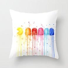 Retro Rainbow Throw Pillow