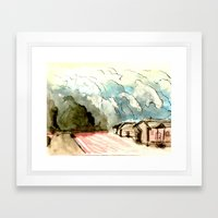 The Dust Bowl Blues Framed Art Print