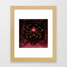 Super Metroid: Angry Baby Framed Art Print