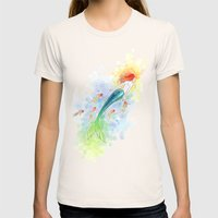 Under The Sea Womens Fitted Tee Natural SMALL