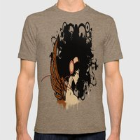 Rebel Lady Mens Fitted Tee Tri-Coffee SMALL