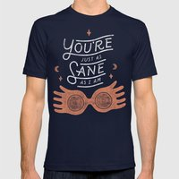Sane Mens Fitted Tee Navy SMALL