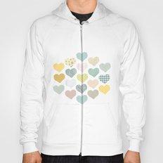 hearts pattern Hoody