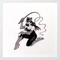 Obey Gerbilgirl! Art Print