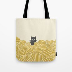 Cat and Yarn Tote Bag