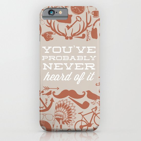 The Study of Hipsters iPhone & iPod Case