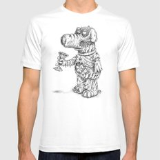 Man's Best Friend White SMALL Mens Fitted Tee