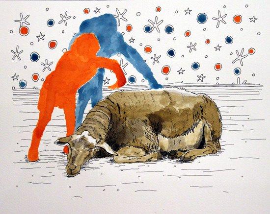 Blue & Orange Dream Canvas Print