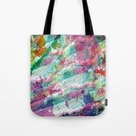 Bright Color Splash Abst… Tote Bag