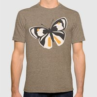 Gungry Butterflies Mens Fitted Tee Tri-Coffee SMALL
