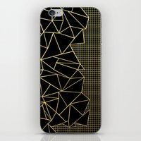 Abstract Outline Grid Gold iPhone & iPod Skin