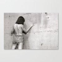 Wall flower girl Canvas Print