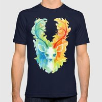 Feather Fawn Mens Fitted Tee Navy SMALL