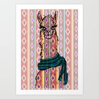 Llama Mix Art Print
