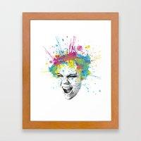 Colorful Scream Framed Art Print