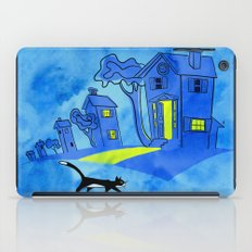 Night Cat On The Prowl iPad Case