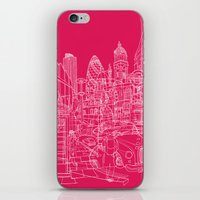 London! Hot Pink iPhone & iPod Skin