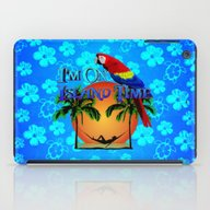 Island Time And Parrot iPad Case