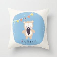 Barry Bear Throw Pillow
