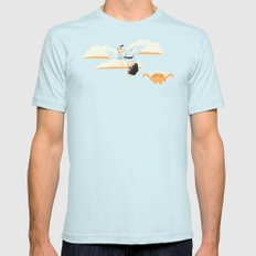 Early Bird SMALL Light Blue Mens Fitted Tee