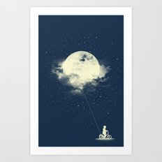 THE BOY WHO STOLE THE MOON Art Print