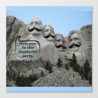 Mount Mustache Canvas Print