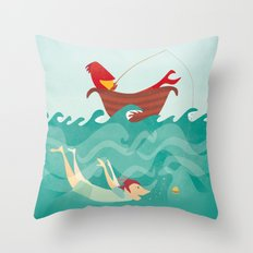 Seafood is Overrated Throw Pillow