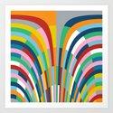 Rainbow Bricks Art Print